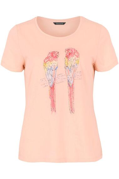 Parrot Placement Print T-Shirt