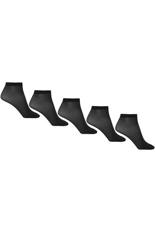 5 Pack 15 Denier Ankle Highs With Lycra
