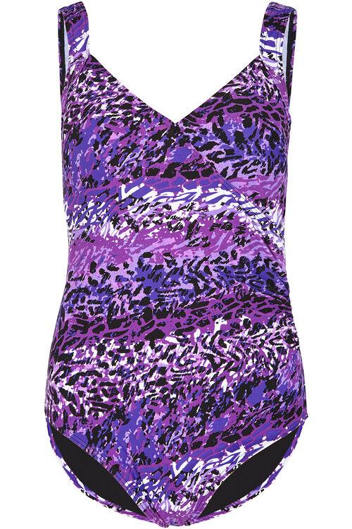 Purple Animal Wrap Swimsuit