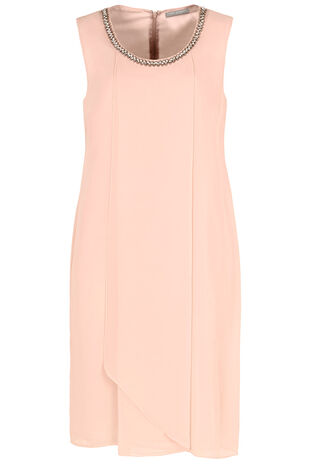 Ann Harvey Beaded Neckline Dress