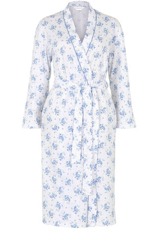 Floral Print Jersey Robe