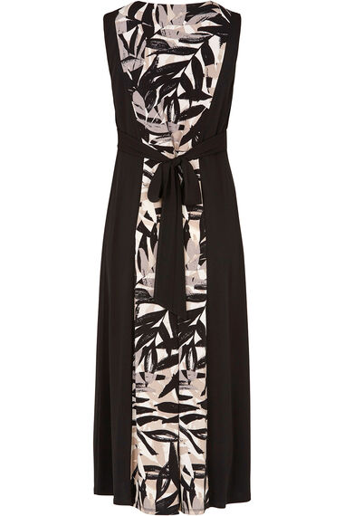 Panelled Print Sleeveless Maxi Dress