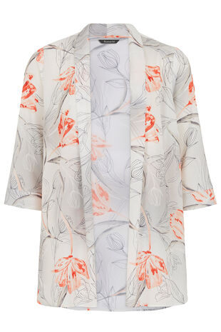 Tulip Print 3/4 Sleeve Cover Up