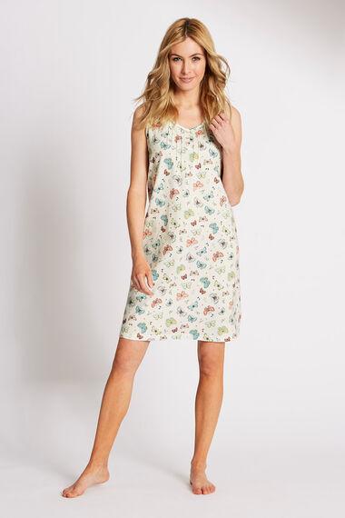 Butterfly Sleeveless Cotton Nightdress