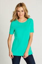 Lace Neckline T-Shirt