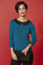 Lace Collar Jumper