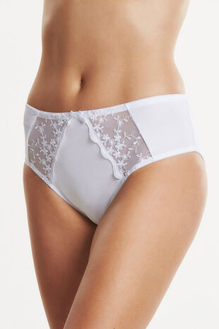 Embroidery Mesh Insert Brief