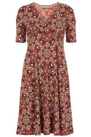 Ann Harvey Cinnabar Print Dress