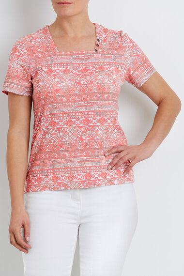 Mosaic Tile Print T-Shirt