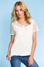 Crochet Lace Sleeve T-Shirt