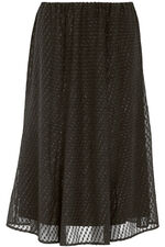 Spotted Chiffon Skirt