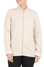 Brushed Back Zip Through Jacket