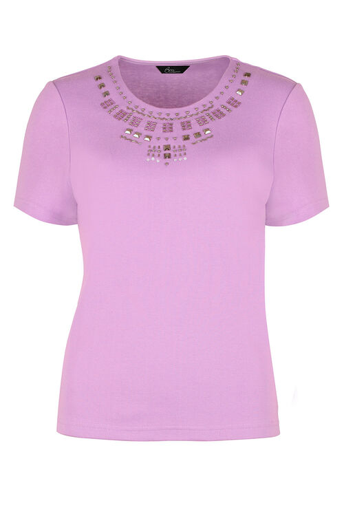 Bead Detail T-Shirt