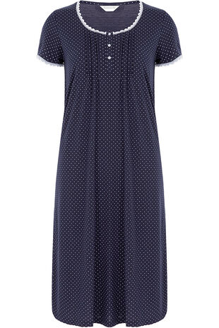 Navy Spot Nightdress