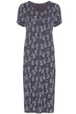 Grape Print V-Neck Nightdress