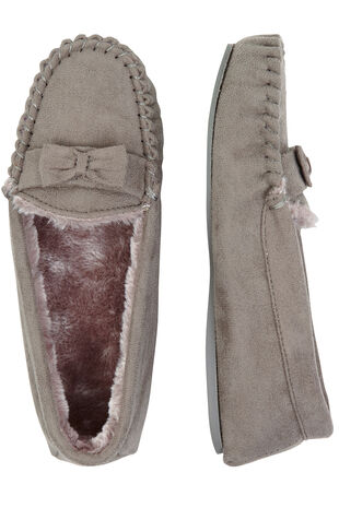 Suedette Bow Trim Moccasin