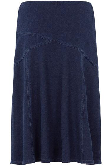 Denim Jersey Skirt