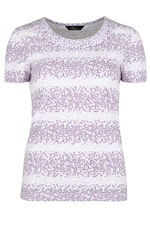 Leopard Print Stripe T-Shirt