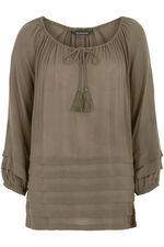 Crinkle Pleated Blouse