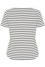 Mirror Bubble Print Stripe T-Shirt
