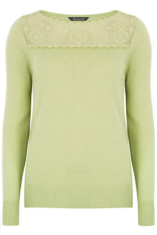 Lace Yoke Detail Jumper