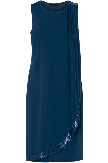 David Emanuel Sequin Shoulder Dress