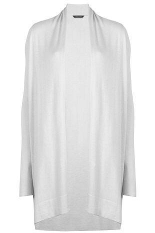 Longline Cardigan With Silk