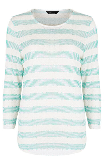 Textured Stripe Sweat Top