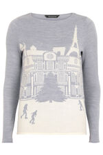 Parisian Snow Scene Jumper