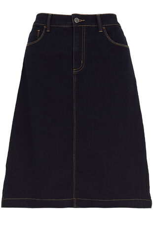 Straight Cut Denim Skirt
