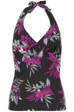 Floral Print Halterneck Tankini Top
