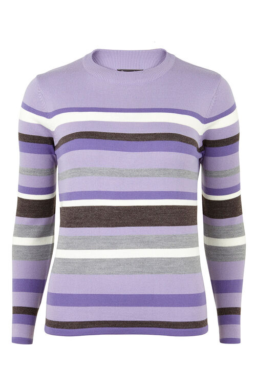 Cash Stripe Turtle Neck