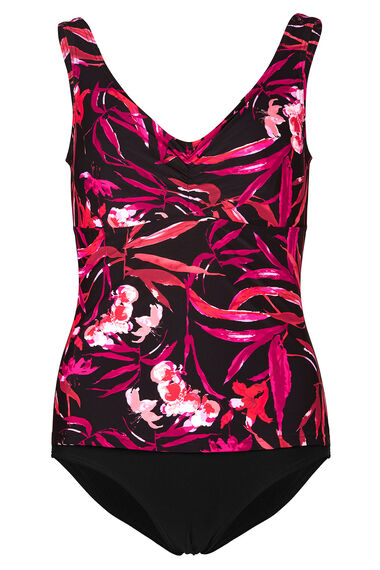Floral Mock Tankini Swimsuit