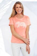Cotton Animal Placement Print T-Shirt