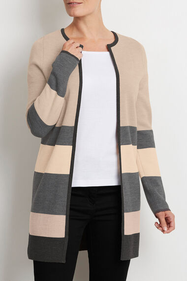 Striped Coatigan