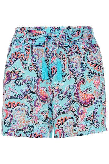 Paisley Printed Beach Shorts