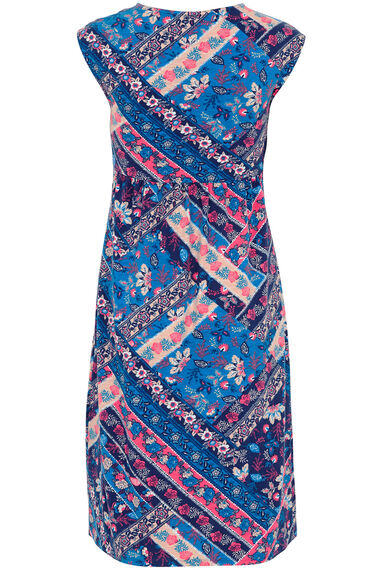 Patchwork Print Cotton Dress