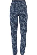 Paisley Print Linen Trousers