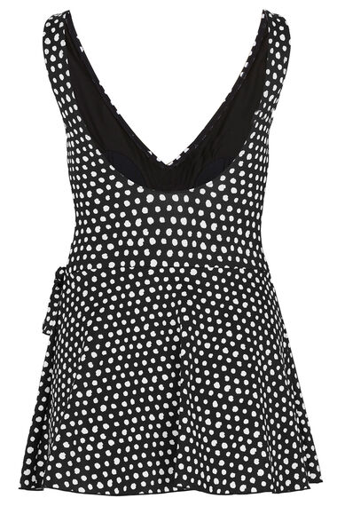 Smudge Spot Print Wrap Swim Dress
