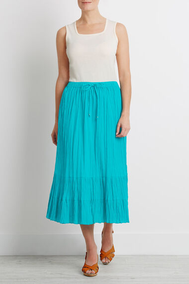 Tiered Crinkle Skirt