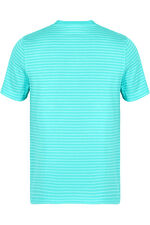 Aqua And White Striped T-Shirt
