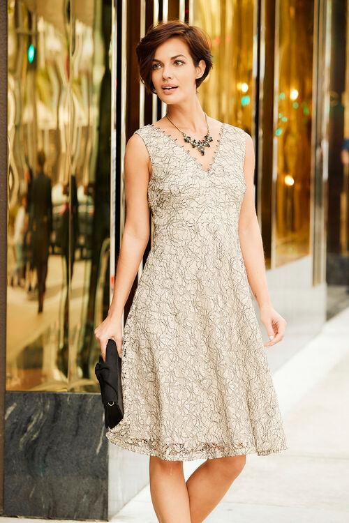 Lace Scalloped Edge Dress