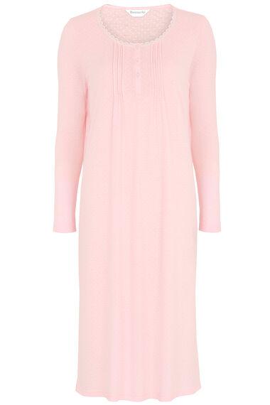 Long Sleeve Spot Nightdress