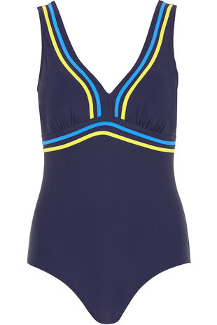 Contrast Trim Swimsuit