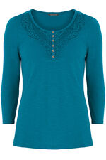 Cotton Lace Detail T-Shirt