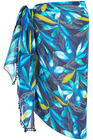 Watercolour Leaf Print Sarong