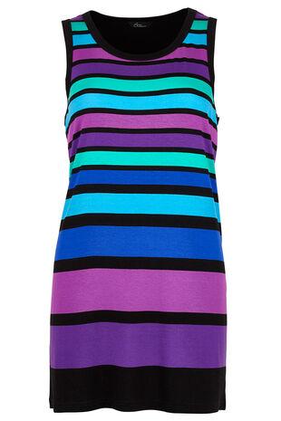 Multi Stripe Longline Vest