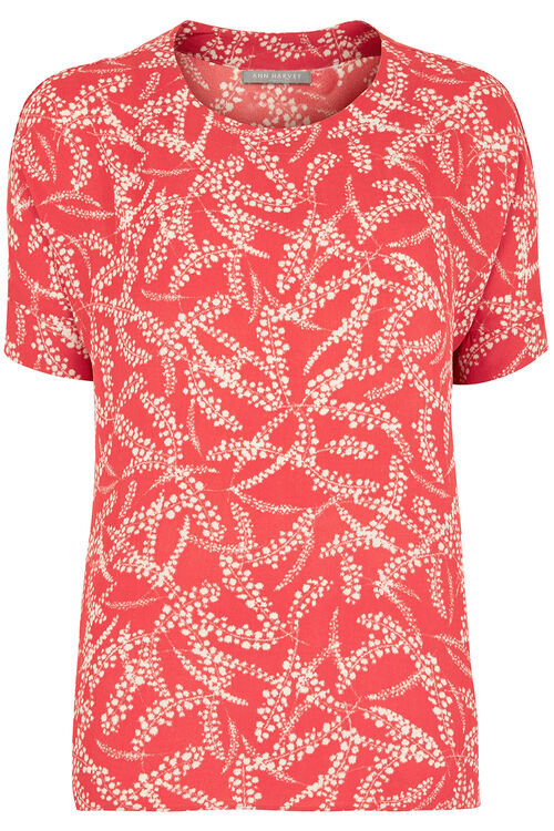 Ann Harvey Cinnamon Print Top