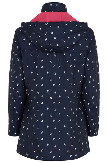 Bird Print Waterproof Coat