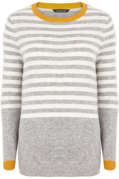 Striped Round Neck Jumper